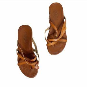 MAD LOVE  Vegan Leather Strappy slip on Sandals